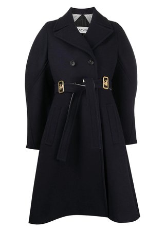 Lanvin Double-breasted logo buckle coat - Coats and Jackets - Clothing - WOMEN