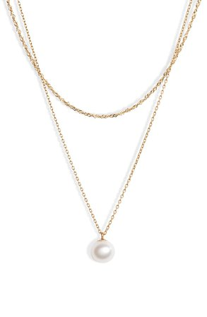 Poppy Finch Pearl Layer Necklace | Nordstrom