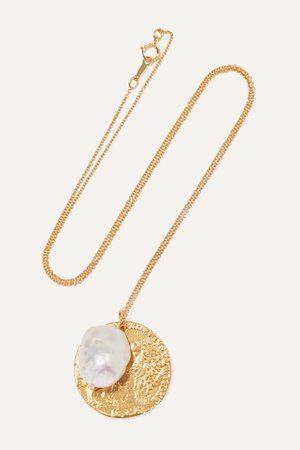 Gold The Remedy Chapter ii gold-plated pearl necklace | Alighieri | NET-A-PORTER