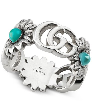 gucci silver flower ring