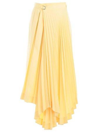 celine-Yellow-Asymmetric-Pleated-Skirt.jpeg (1200×1600)