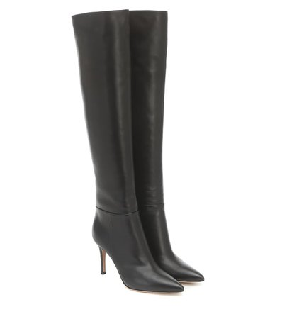 Gianvito Rossi - Knee-high leather boots | Mytheresa