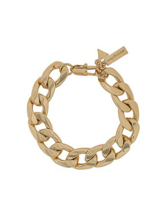 Shop gold Coup De Coeur chunky chain bracelet with Express Delivery - Farfetch