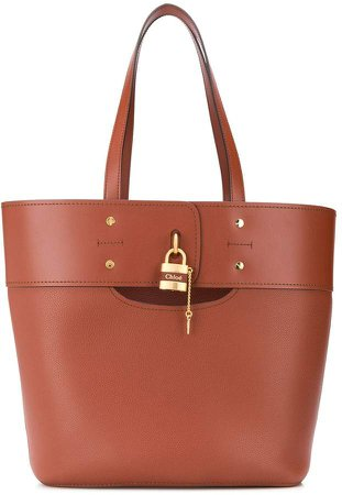 Aby leather tote bag