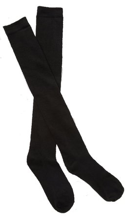 black overknee socks
