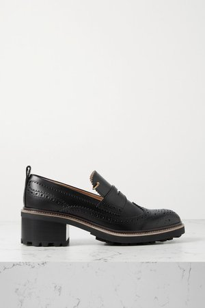 Franne Leather Loafers - Black