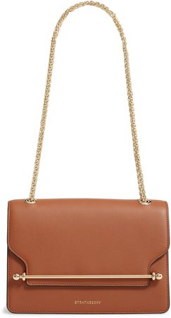 East/West Leather Shoulder Bag