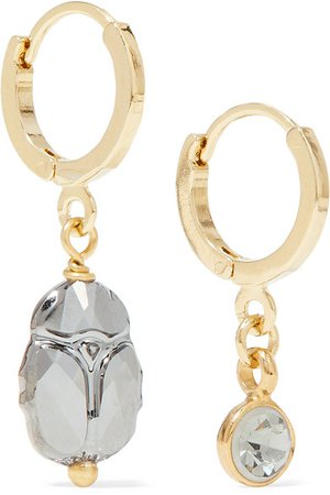 Isabel Marant | Vedette gold and silver-tone and crystal earrings | NET-A-PORTER.COM