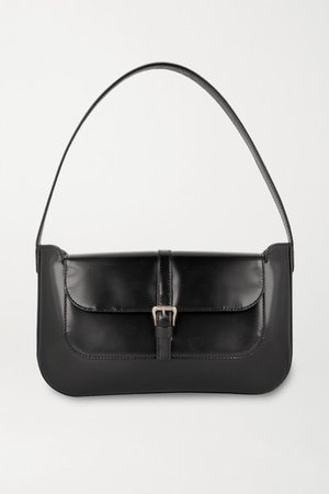 Miranda Patent-leather Shoulder Bag - Black