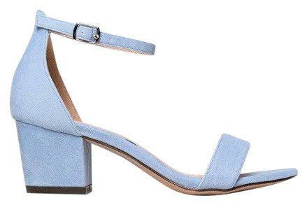 J. Adams Light Blue Velvet Daisy Ankle Strap Sandals Size US 6 Regular (M, B) - Tradesy
