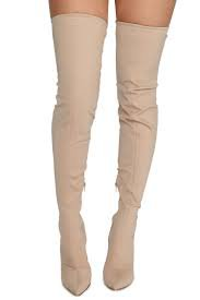 beige thigh high boots - Google Search