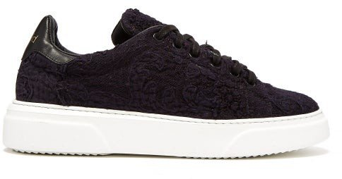 19th-century Panelled Low-top Trainers - Indigo