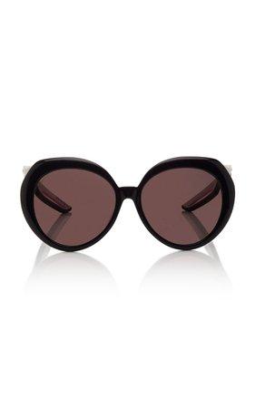 Hybrid Round-Frame Acetate Sunglasses by Balenciaga | Moda Operandi
