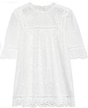 Bayou Swirl Broderie Anglaise Cotton Top