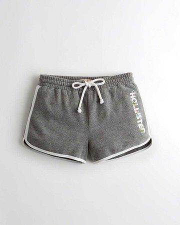 Girls Curved Hem Fleece Shorts   Girls Clearance   HollisterCo.com