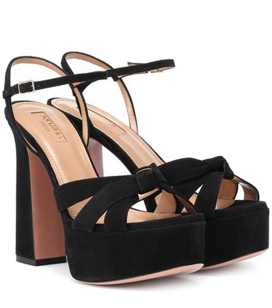 Baba Plateau 125 suede sandals