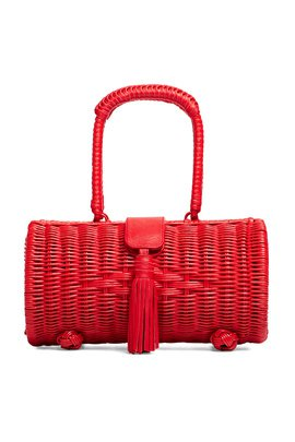 Williamsburg Straw Circle Bag by Cleobella Handbags for $15 | Rent the Runway