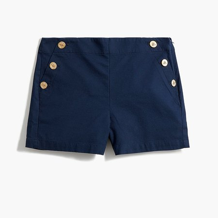 J.Crew Factory: Sailor Short In Stretch Piqué Cotton For Women