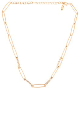 Ettika Wide Link Necklace in Gold | REVOLVE