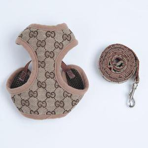 Designer Harness And Leash Set Pet Fashion Waistcoat Style Adjustable – paw pals shop