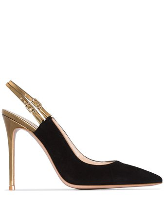 Black Gianvito Rossi 115Mm Pointed Slingback Pumps | Farfetch.com