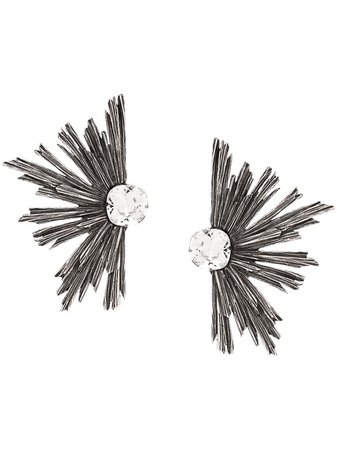 Saint Laurent Metal Rhinestone Earrings | Farfetch.com