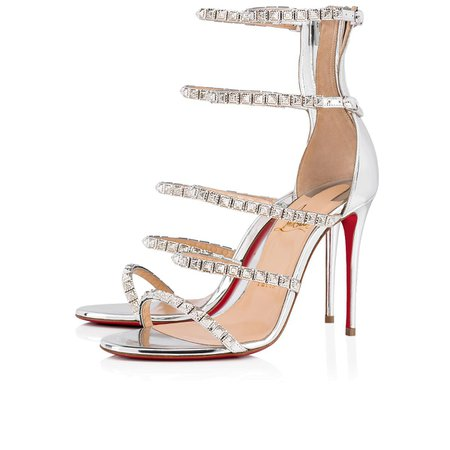 Forever Girl 100 Silver Specchio - Women Shoes - Christian Louboutin