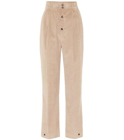 High-Rise Corduroy Straight Pants - Etro | Mytheresa