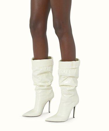 The puffer boots 115 - Cream   FENTY