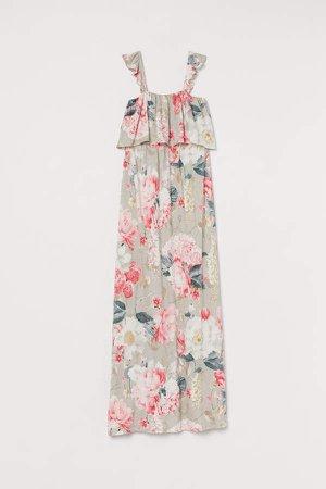 MAMA Long Jersey Dress - Brown