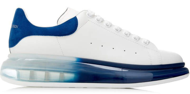 Transparent-Sole Leather Sneakers