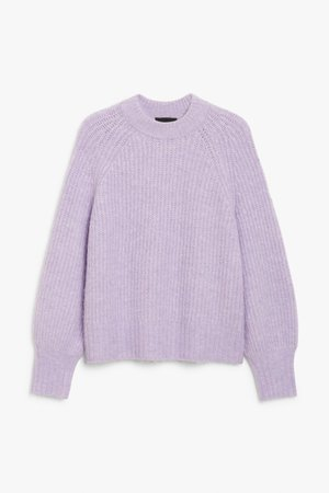 Knit sweater - Lilac - Jumpers - Monki
