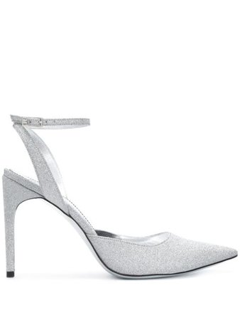 Silver Givenchy glitter pointed pumps - Farfetch