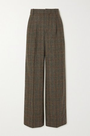 Bottomsup Checked Woven Straight-leg Pants - Brown