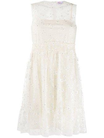 RedValentino sheer-panel Lace Dress - Farfetch