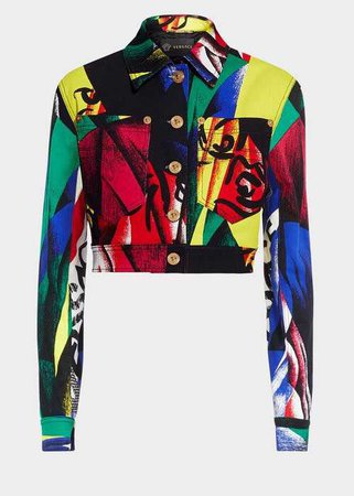 The Clash Print Denim Jacket