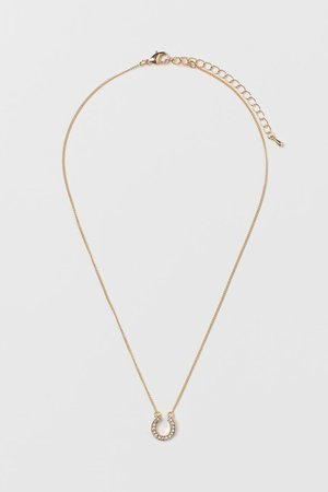 Horseshoe-pendant Necklace - Gold-colored - Ladies | H&M US