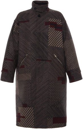 Ermenegildo Zegna Couture XXX Jacquard Herringbone Long Coat