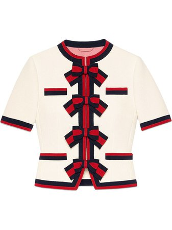 Gucci, Wool jacket with Web bows