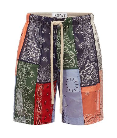 Shorts Bandana Patchwork Multicolor - LOEWE