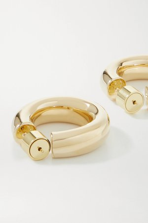 Gold Kevin Huggies gold-plated hoop earrings | Jennifer Fisher | NET-A-PORTER