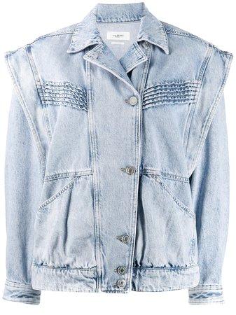 Isabel Marant Étoile Off-Centre Buttoned Denim Jacket Ss20   Farfetch.com