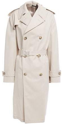 Appliqued Gabardine Trench Coat