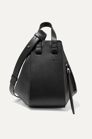Black Hammock small textured-leather shoulder bag | Loewe | NET-A-PORTER