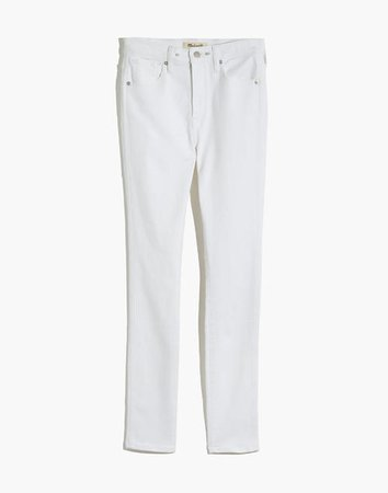 "10"" High-Rise Skinny Jeans in Pure White"