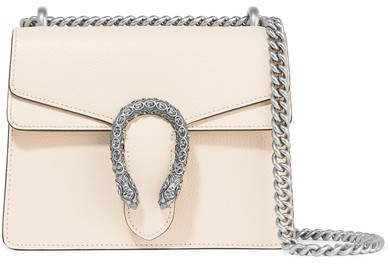 Dionysus Mini Textured-leather Shoulder Bag - Ivory