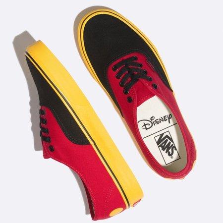 Vans Shoes | Authentic Disney Mickey Red Yellow | Poshmark