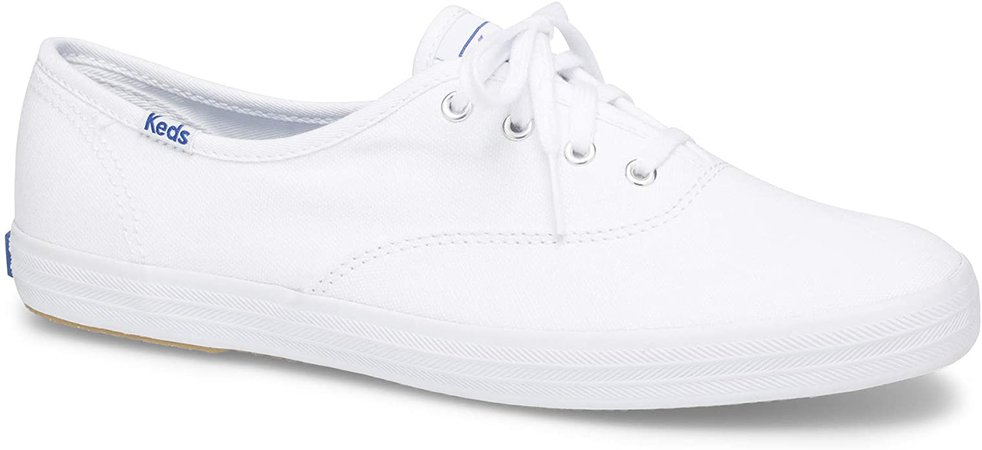 Keds Women's Champion Sneaker, White Canvas