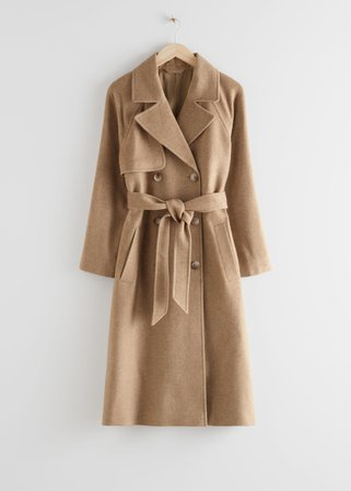 Belted Trench Coat - Beige - Trenchcoats - & Other Stories