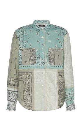 Bandana Reconstructed Cotton Flannel Shirt by Amiri   Moda Operandi